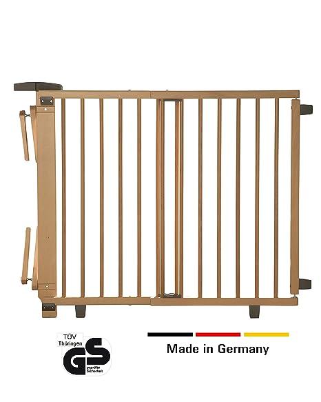 Geuther - Schwenk- Treppenschutzgitter 2733, für Kinder, Hunde und Katzen, Made in Germany, Befestigung mit Schrauben/Klemmen