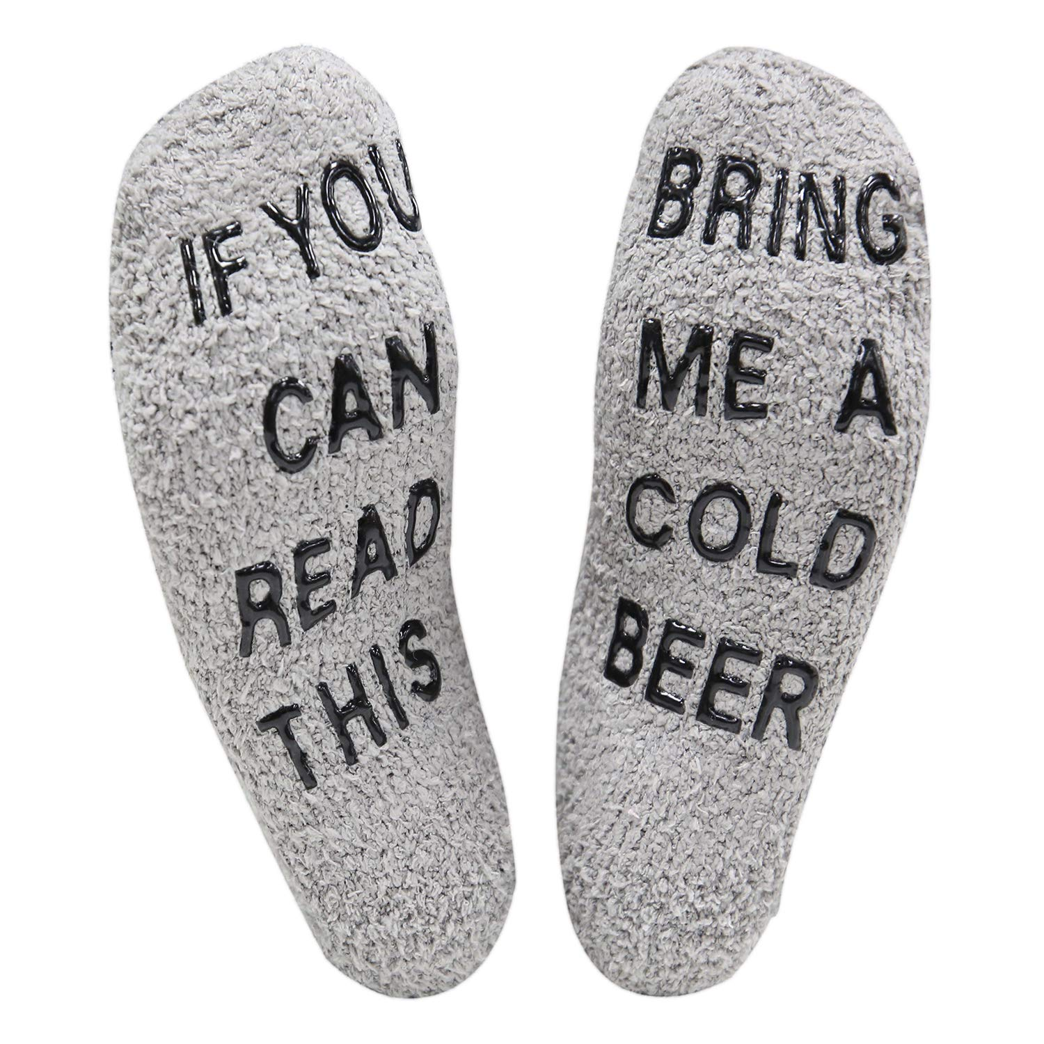 Happypop Slipper Socks If You Can Read This Fuzzy Crew Winter Warm Socks Bring Me Beer Thermal Socks For Men Women Hollowen Christmas Birthday housewarming Gift
