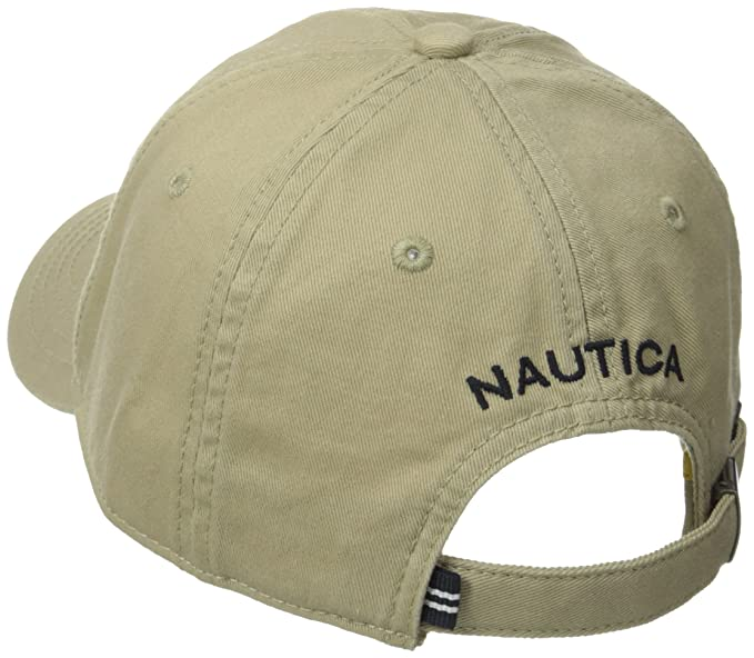 Nautica Mens Twill 6-Panel Cap, Khaki, One Size at Amazon Mens Clothing store: Apparel Accessories