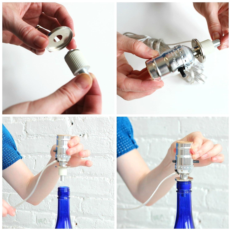 Bottle Lamp Kits Build Your Own With For Liquor Wiring Kit Bottles Brass Socket