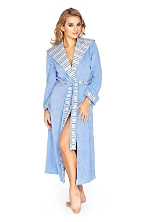 Womens Luxury Soft Cotton Robe Housecoat Dressing Gown Bathrobe at ... 94d96b5725dc