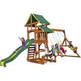 Backyard Discovery Tucson All Cedar Wood Playset Swing Set