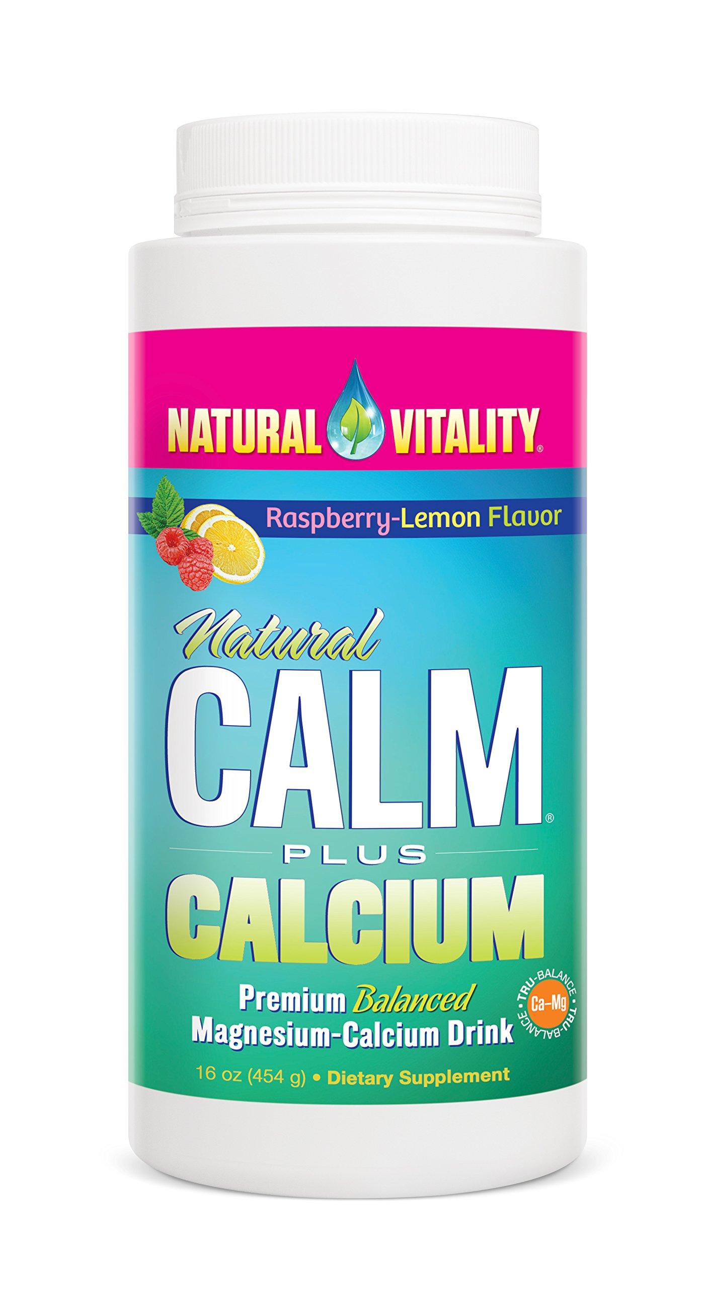 Natural Vitality Natural Calm Plus Calcium Magnesium Anti Stress, Organic, Raspbery Lemon, 16 oz