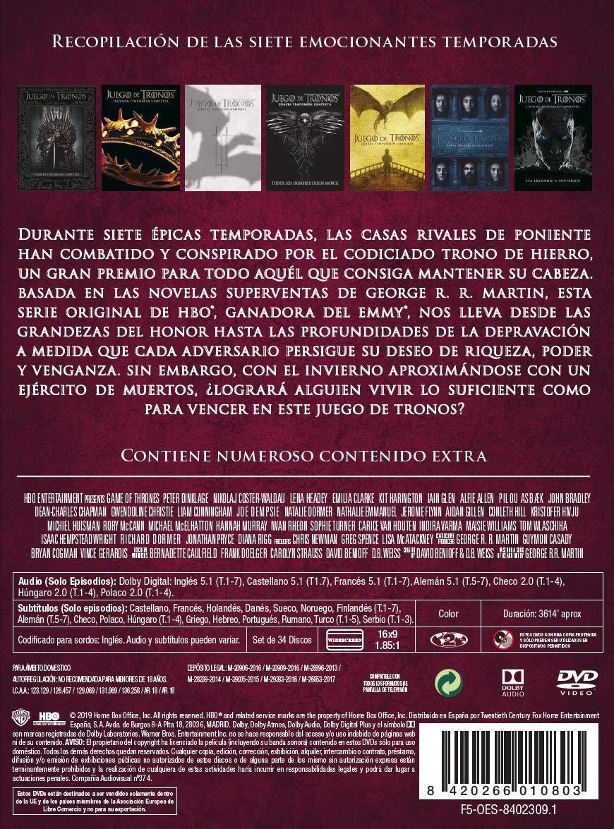 Juego De Tronos Temporada 1-7 [DVD]: Amazon.es: Lena Headey, Peter ...