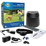 PetSafe Stay & Play Compact Wireless Fence for Dogs & Cats, Waterproof & Rechargeable, Above Ground Electric Fence Covers Up