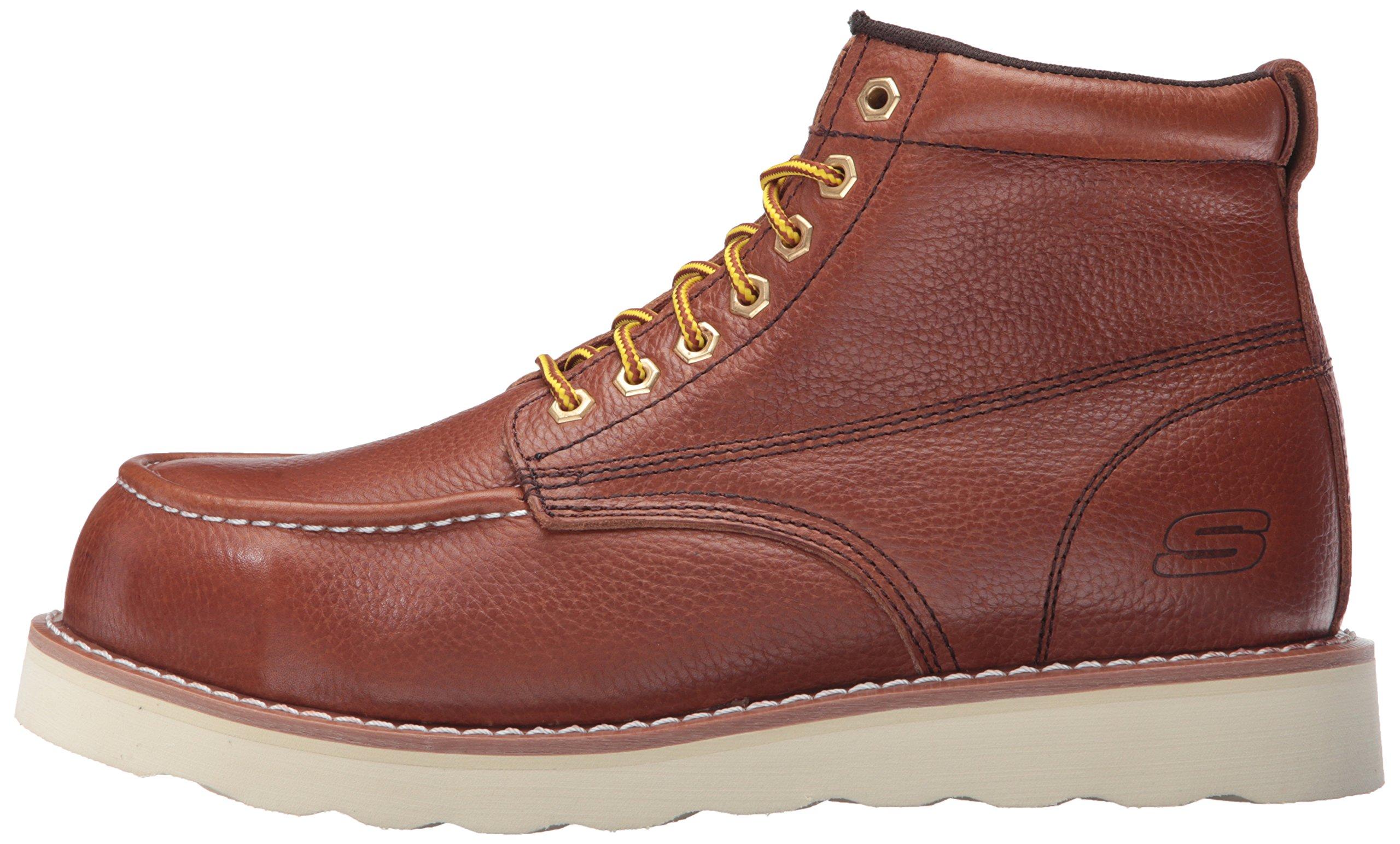 Skechers for Work Men's Pettus Grafford Work Boot,Red Brown,10.5 M US by Skechers (Image #5)
