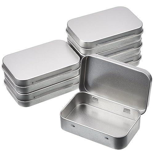 Tiny House Container Amazon: 5 X Silver Hinged Tobacco/Survival/Storage Tin: Amazon.co