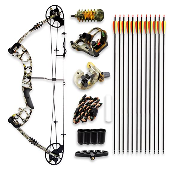 Image result for SereneLife Complete Upgraded Compound Bow & Arrow Accessory Kit
