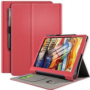 ELTD Funda Carcasa para Yoga Smart Tab, Slim Frosted Smart Protectora de Cuero PU Case Cover Funda para Yoga Smart Tab 10.1 Pulgadas dispositivoa, ...