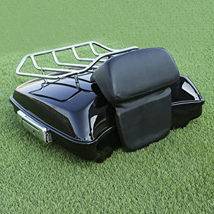 TCMT Black Tour Pak Pack 2-UP Motorcycles Luggage Rack Mount Fits For Harley HD Touring FLH FLT Models 2014 2015 2016 2017 2018 2019