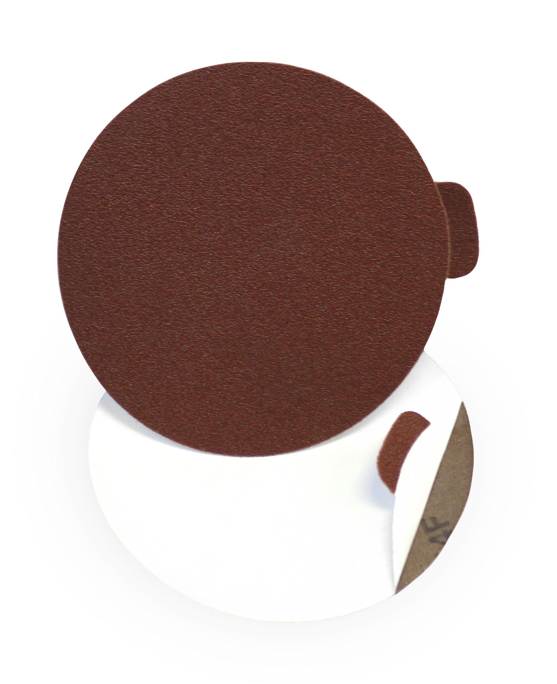 VSM 88367 PSA Cloth Disc, 5'' Diameter, 60 Grit, Aluminum Oxide (Pack of 100) by VSM