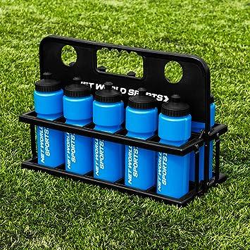 Net World Sports 10 Botellas de Agua 750ml y Porta Botellas (Azul ...