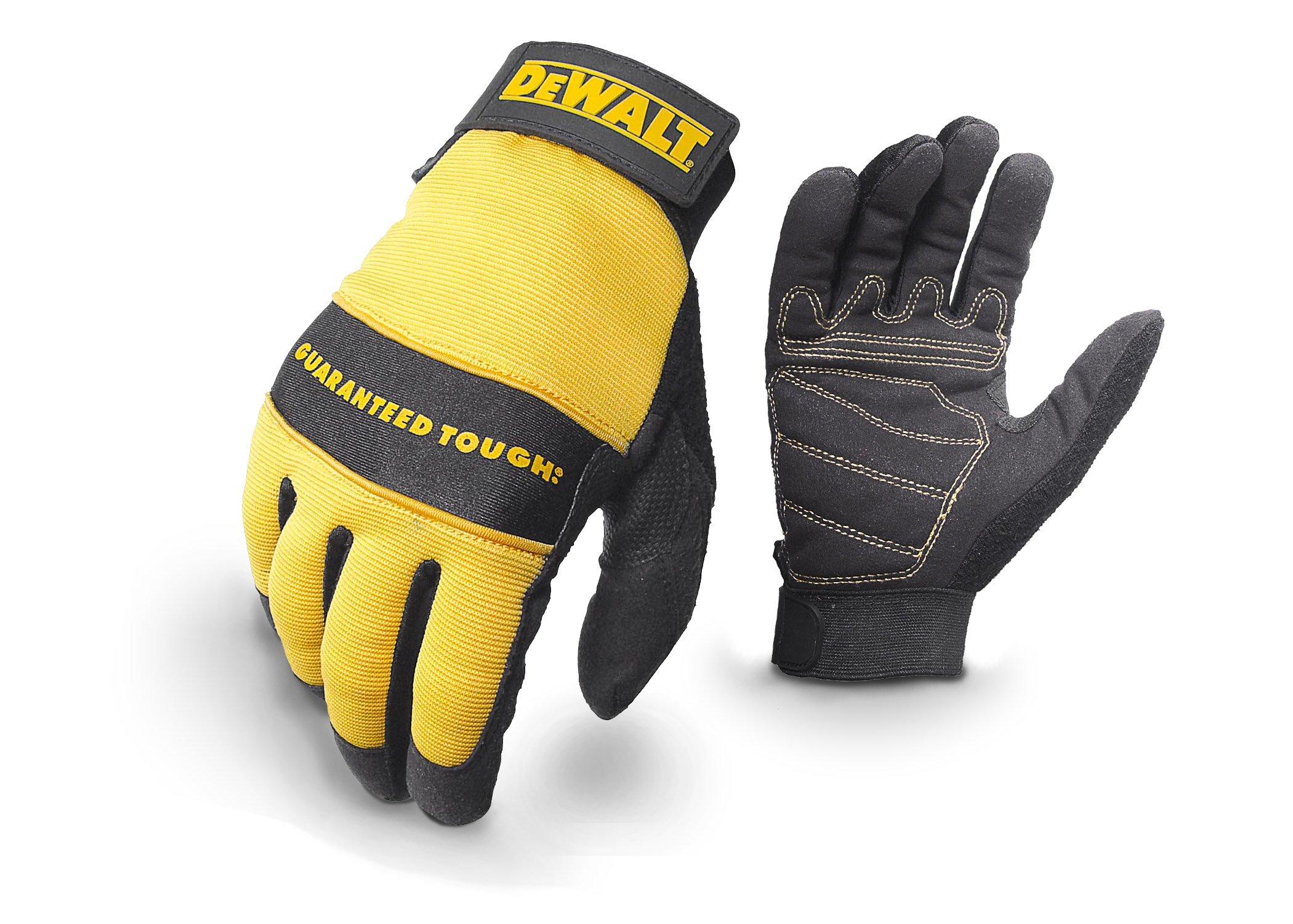 Dewalt DPG20L All Purpose Synthetic Leather Palm Spandex Back Velcro Wrist Work Glove, Large by DEWALT (Image #2)