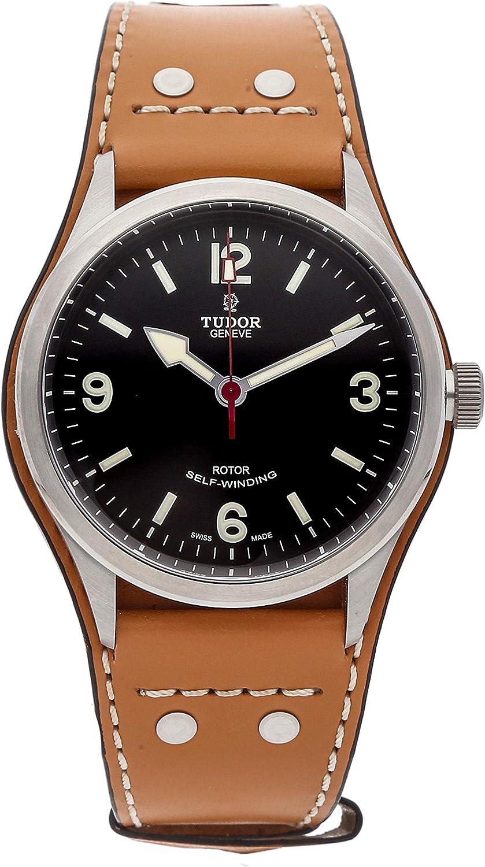 Tudor Heritage Ranger 79910-BUNDLTH - Reloj automático para hombre (esfera negra), color marrón