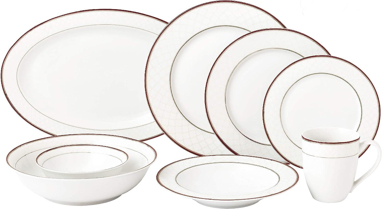 Lorren Home Trends Scarlet Dinnerware Set, Red