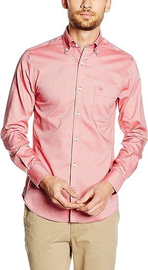 Pedro del Hierro Camisa Hombre Rosa S: Amazon.es: Ropa