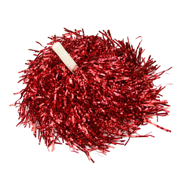 HOTER® Collection 1 Paar Gerade Hand Shank Cheerleader Pompons, Preis/2 St¨¹ck, 0.025 kg/St¨¹ck, 6 Farben - rot Preis/2 St¨¹ck 0.025 kg/St¨¹ck