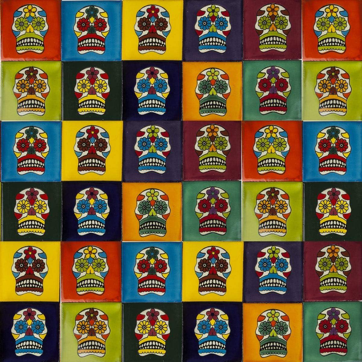 Treppen Dusche Mexikanische Fliesen Mariscos K/üchenr/ückwand 30 mexikanische Fliesen 10x10 cm Talavera Badezimmer- und K/üchenfliesen Dekoration f/ür Badezimmer