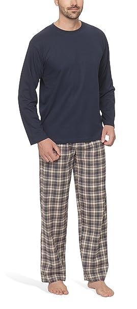 Para hombre pantalones de pijama de franela con - Moon Line