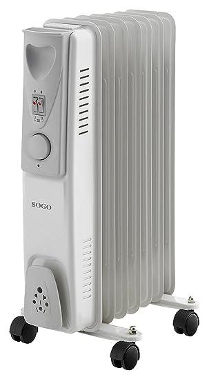 Sogo CAL-SS-18207 Radiador de Aceite eléctrico, 7 Elementos, 1500 W