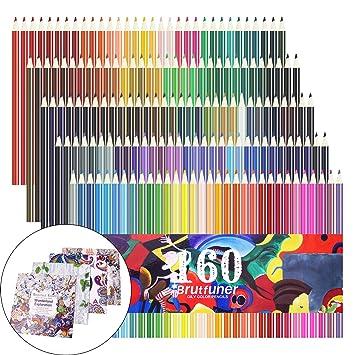 160 lápices de colores, juego de lápices de colores para dibujar, dibujar, pintar