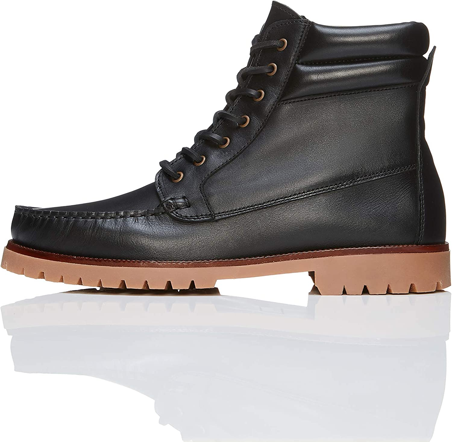 Marca Amazon - find. Leather Boat, Botas Chukka Hombre