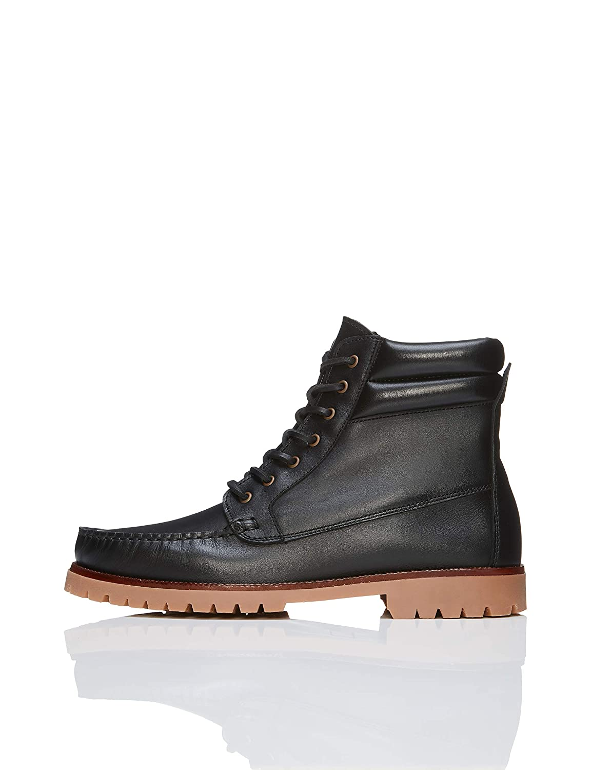 TALLA 43 EU. Marca Amazon - find. Leather Boat, Botas Chukka Hombre