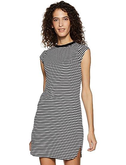 3a323164e55 Miss Chase Women s Shift Mini Dress (MCSS17D07-55-98 Black and White X-Small
