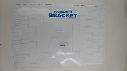 photograph relating to Si Printable Bracket titled Replica King March Insanity Reusable Dry Erase Bracket Poster 24\