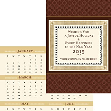 border calendar card pack of 25 blank greeting cards