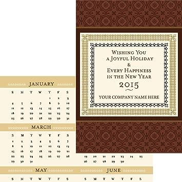 border calendar card pack of 25 blank greeting cards