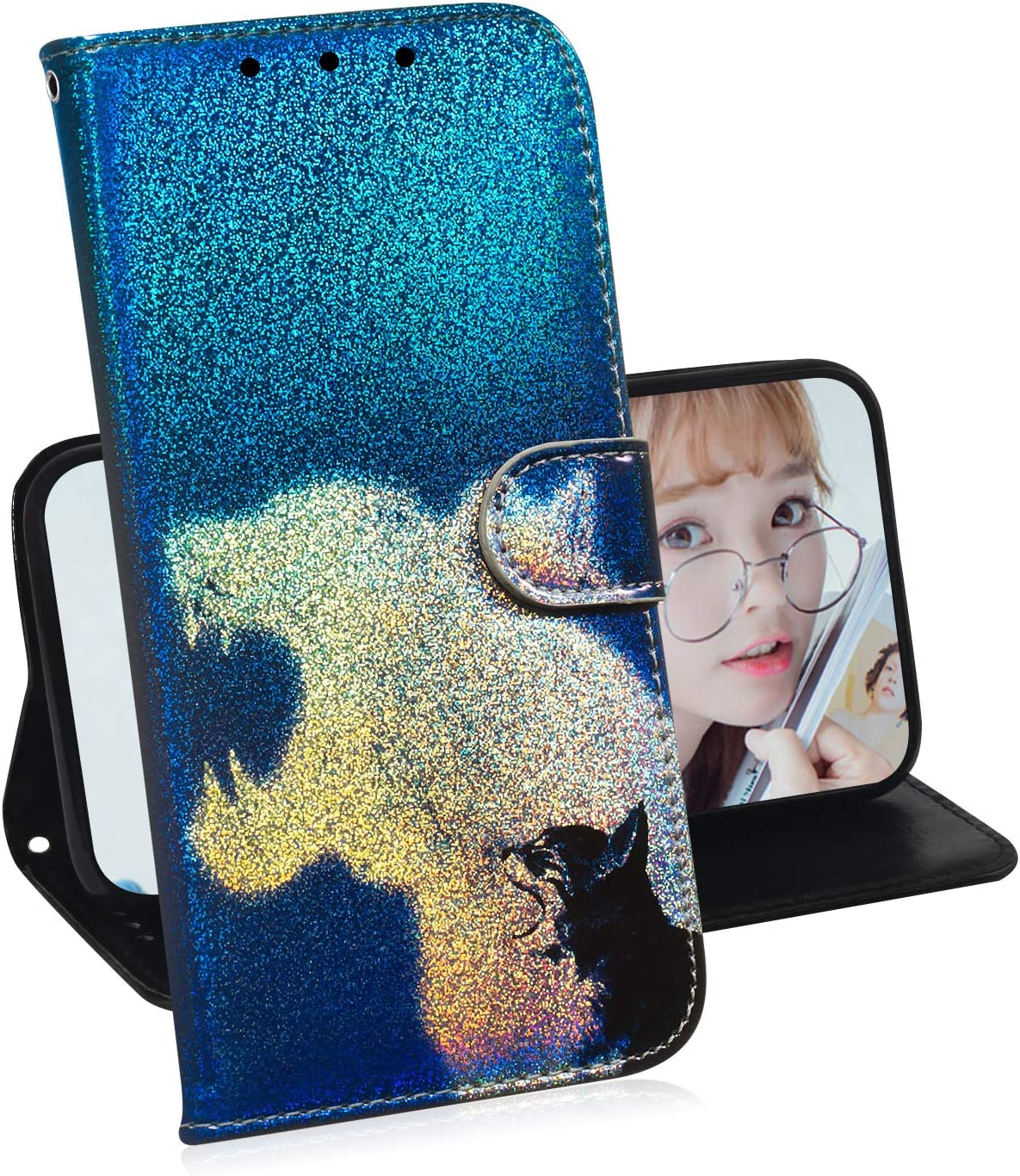 S8Plus - LOTXI150339 L8 Lomogo Leather Wallet Case for Samsung Galaxy S8+ Shockproof Flip Case Cover for Galaxy S8+ S8 Plus with Stand Feature Card Holder Magnetic Closure