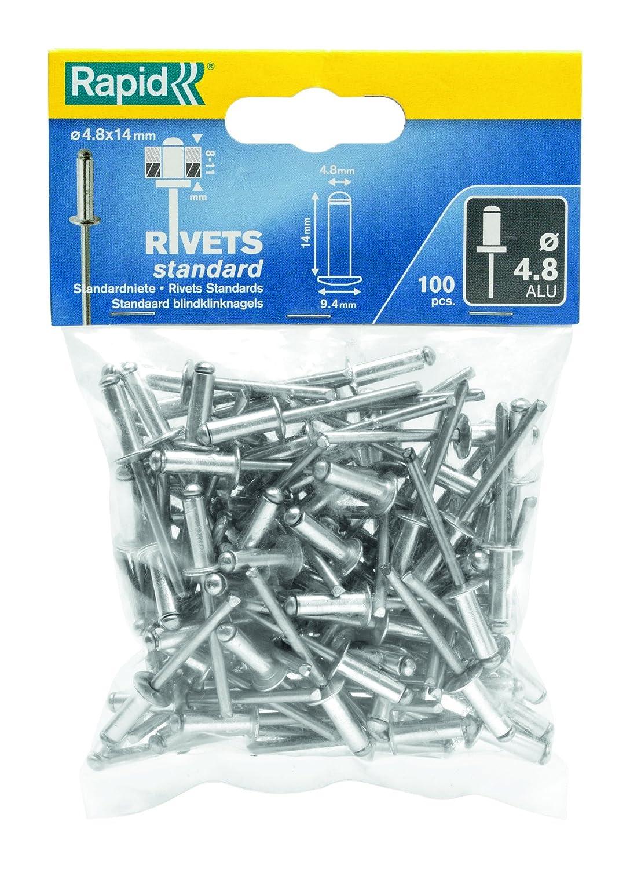 0 W 3.2x8mm Plateado RAPID 5000377 Remaches