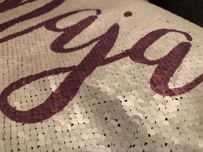 Pailletten Kissen mit Name oder Text – Selket's Shop