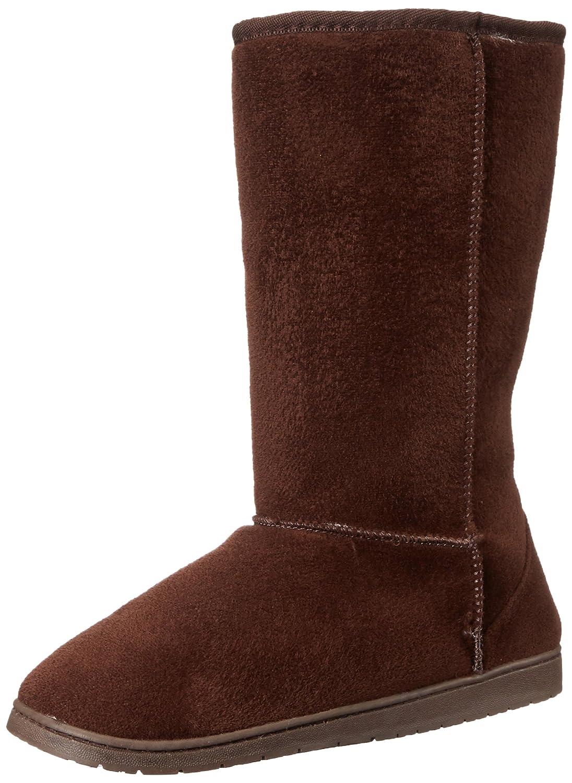 DAWGS Womens 13 Inch Microfiber Faux Shearling Vegan Winter Boots B001KIZK4C 7 B(M) US|Chocolate