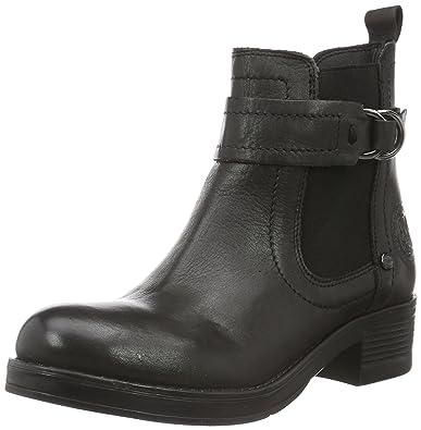 Leather Fire Classiques Black Femme Bottes Wrangler Noir Chelsea 62 Schwarz BfxqxP
