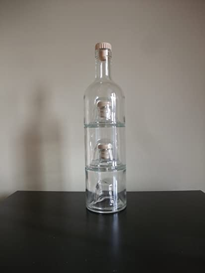 1 x Triple apilables 250 ml botellas de cristal