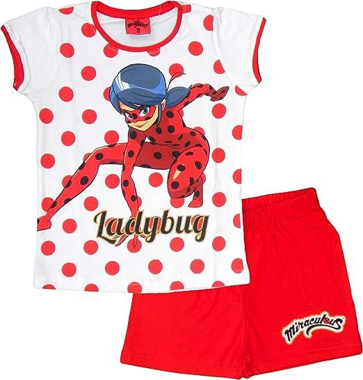 Miraculous Ladybug - Pijama - para niña Rojo Rosso 6 años ...