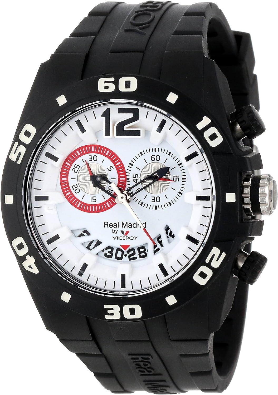 Viceroy 432853-15 Real Madrid Oficial - Reloj para hombre, con indicador de fecha, goma negra