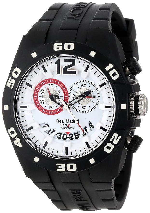 Viceroy 432853-15 Real Madrid Oficial - Reloj para hombre, con indicador de fecha, goma negra: Amazon.es: Relojes