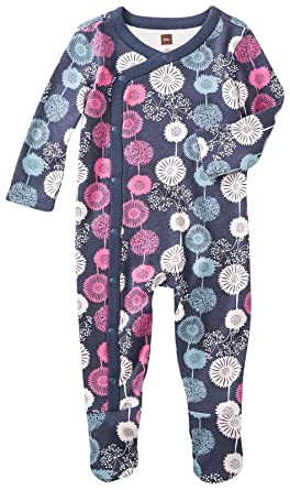 4ff18b3d87fb Amazon.com  Tea Collection Baby Girls  Puff Footed Romper  Clothing
