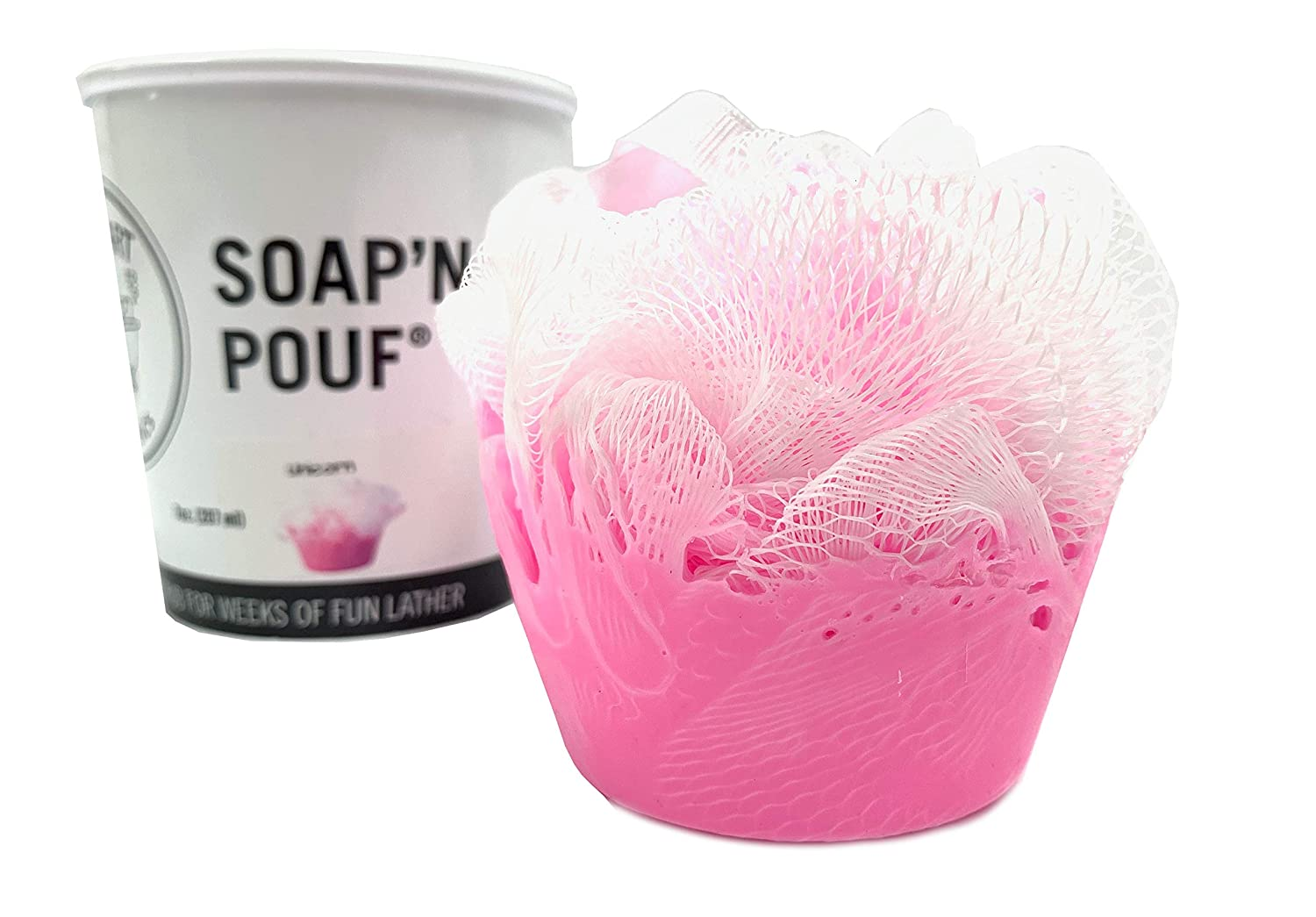 garb2ART SoapN Pouf Scented Loofahs Peach