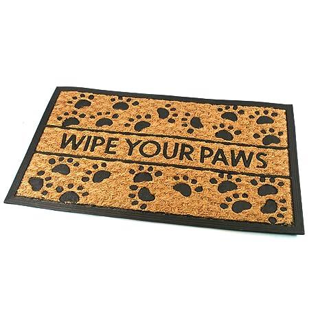 Animal Paw Print Door Mat   Wipe Your Paws
