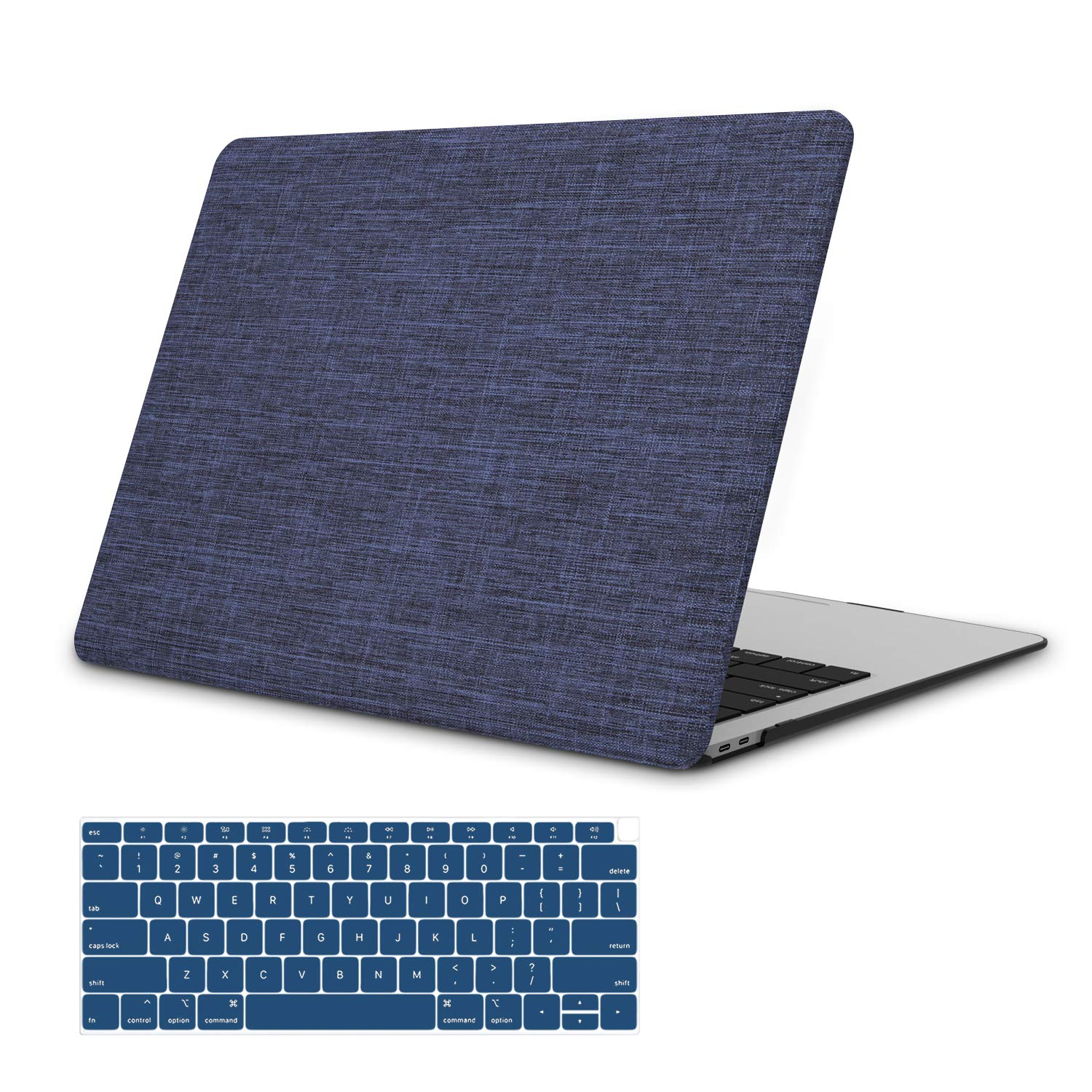 MacBook Pro 13 Case 2019 2018 2017 2016 Release A2159//A1989//A1706//A1708 Blue Hard Shell Case Compatible Newest Mac Pro 13 with//Without Touch Bar JGOO Fabric Soft Touch Shell Cover
