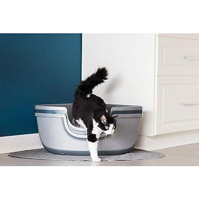 MISC Silver Grey Sifting Cat Litter Box Corner Pan Pet Cats Litter Box