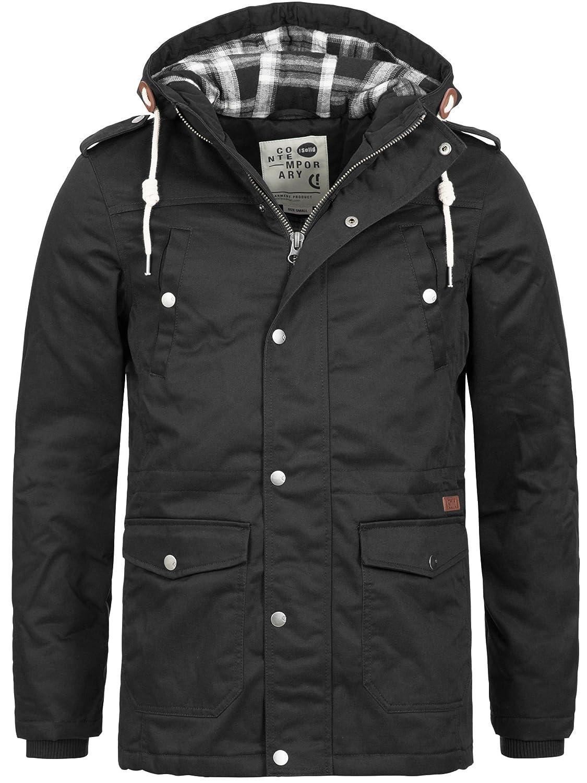 !Solid Men's Hooded Parka Jacket Winter Coat Winter Jacket Raincoat Weatherproof S M L XL XXL
