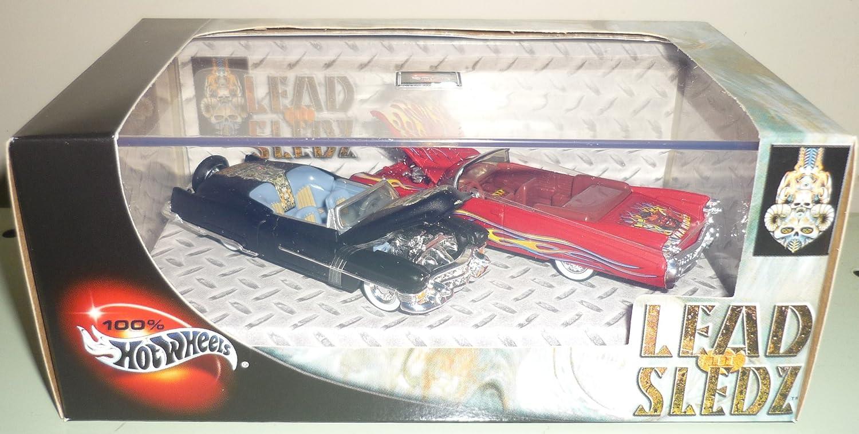 Hot Wheels 100% Lead Sledz 2 Car Set '53 Cadillac & '59 Cadillac