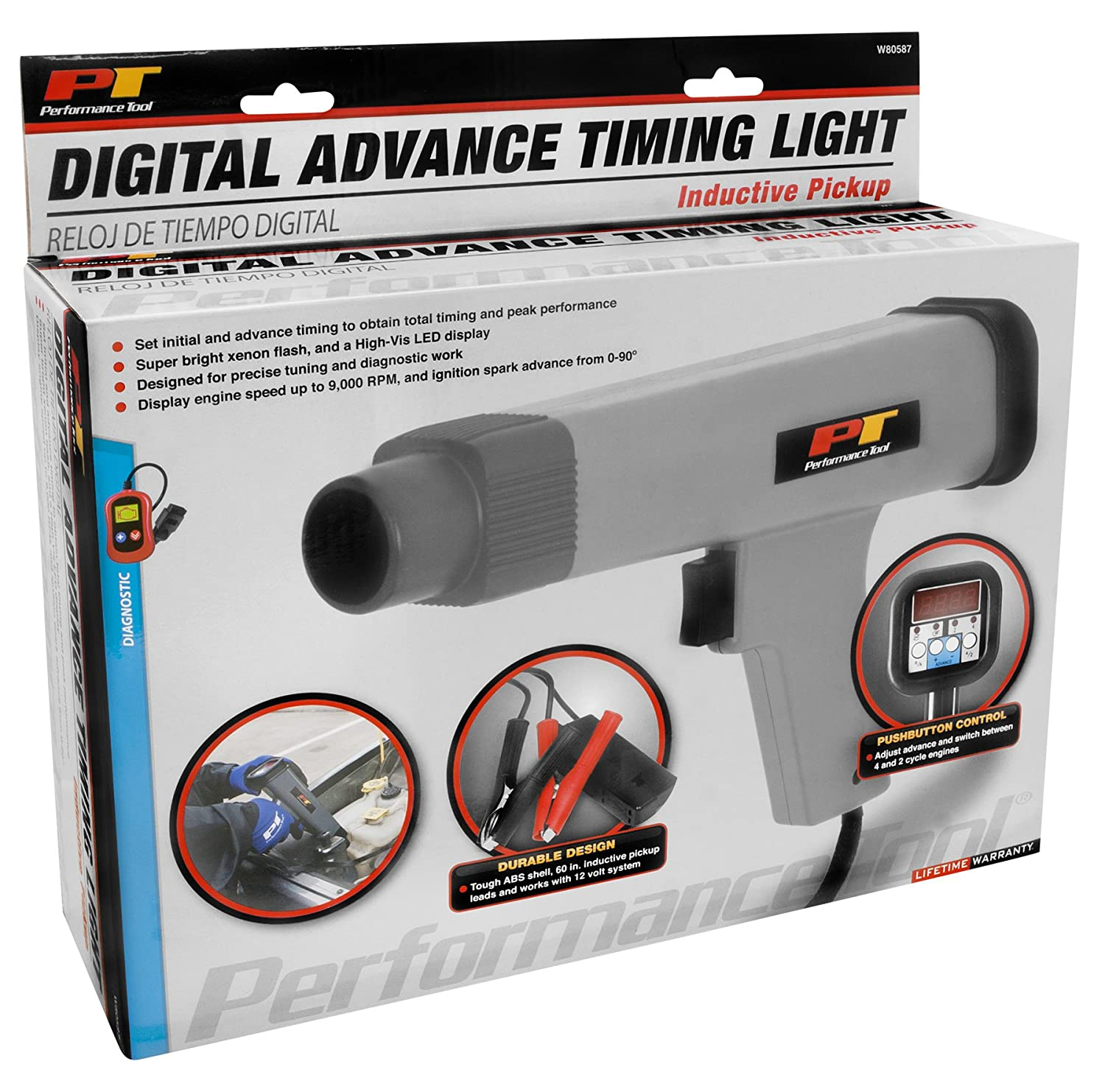 Performance Tool W80587 Digital Advance Timing Light Digital Advance Timing  Light