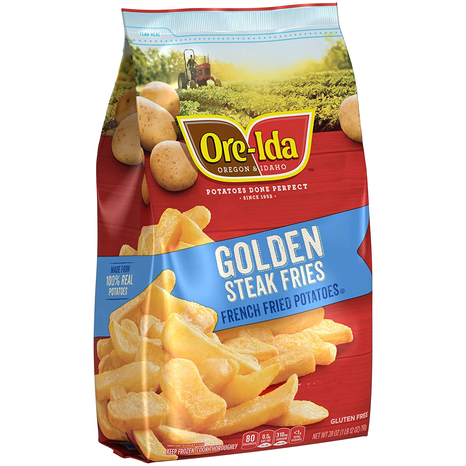 Ore-Ida Frozen Steak Fries (28 oz Bag): Amazon.com: Grocery ...