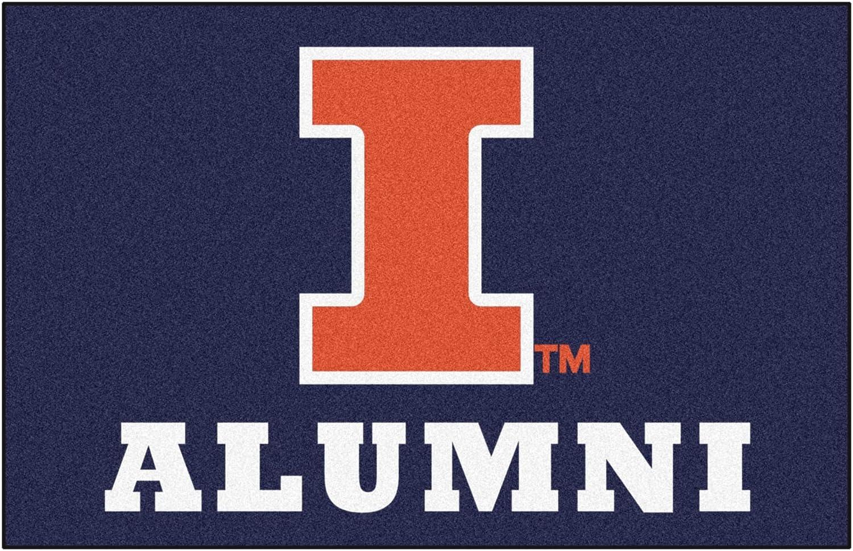 FANMATS University of Illinois Alumni Rug, 19in. X 30in, Navy